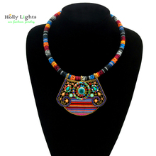 For women bohemia necklaces&pendants choker multicolor collares ethnicos mujer maxi collier femme hippie BOHO costume jewellery
