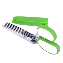 Knives Cooking Tools Scissors Kitchen product Green Handle  New Five Layers Scissors