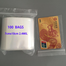 100 ZIP LOCK RECLOSABLE BAGS 7x10cm CLEAR ZIPLOCK PLASTIC BAG 2.4MIL POLY BAGGIES