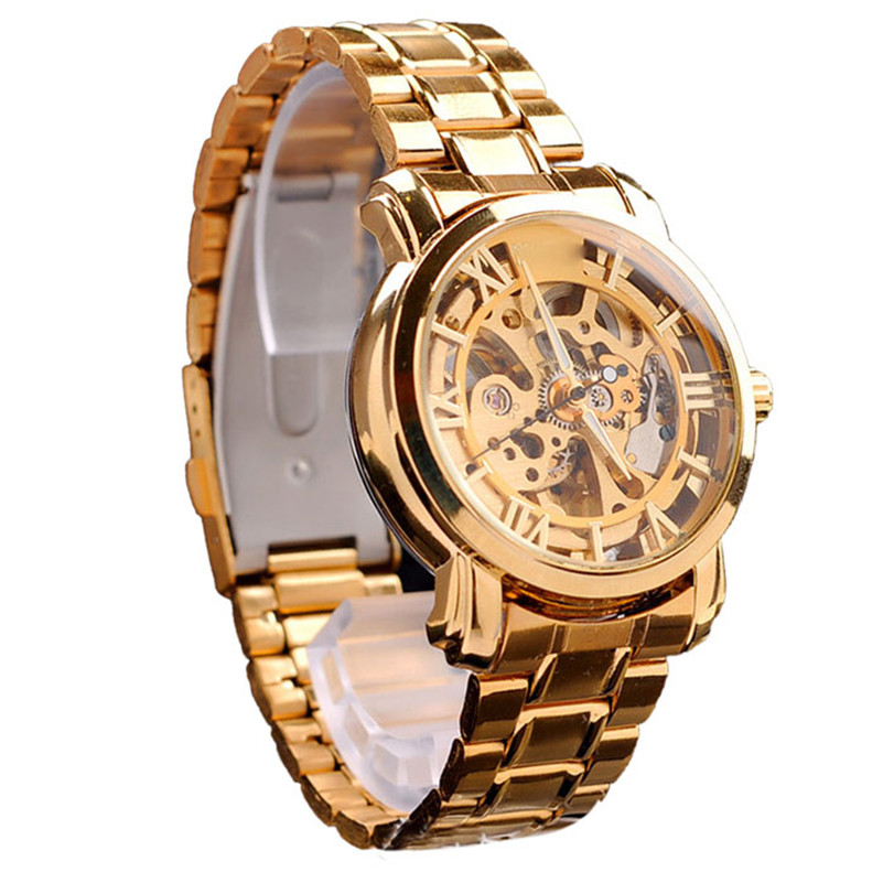 2017 new best-selling male luxury watches famous brands Sport Watch Luxury Automatic Mechanical Skeleton Gold Mens Wrist Watch<br><br>Aliexpress