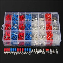 1000Pcs Electrical Wire Connector Insulated Crimp Terminals Kit Spade Assorted Set Fork Ring Assorted Set With Box
