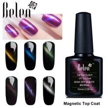 Belen Cat'S-Eye Gel Nail Polish Top Coat Metal Chameleon Colors Change Color Gel Magnetic Cat Gel Polish UV Nail Art(China)