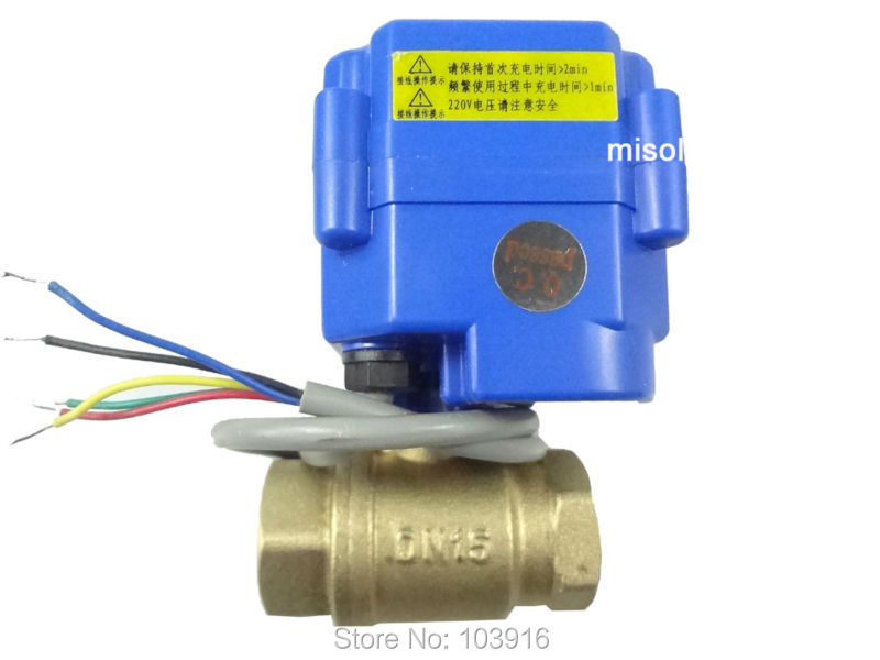 10pcs of motorized valve brass, G1/2 DN15, 2 way, CR05, electrical valve, motorized ball valve<br><br>Aliexpress