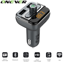 Onever Bluetooth Car Kit Wireless Fm Transmitter Radio Adapter USB Charger Handsfree Music Mp3 Usb Player Audio For Smartphone