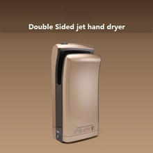 freeshipping 1200w hand dryer Fully automatic sensor high speed double-sided jet type hand dryer(China)
