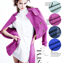 FREE SHIPPING:Couture fashion fabric, suede fabric, retro style, four solid color,sew for top,coat,one-piece dress,craft by yard