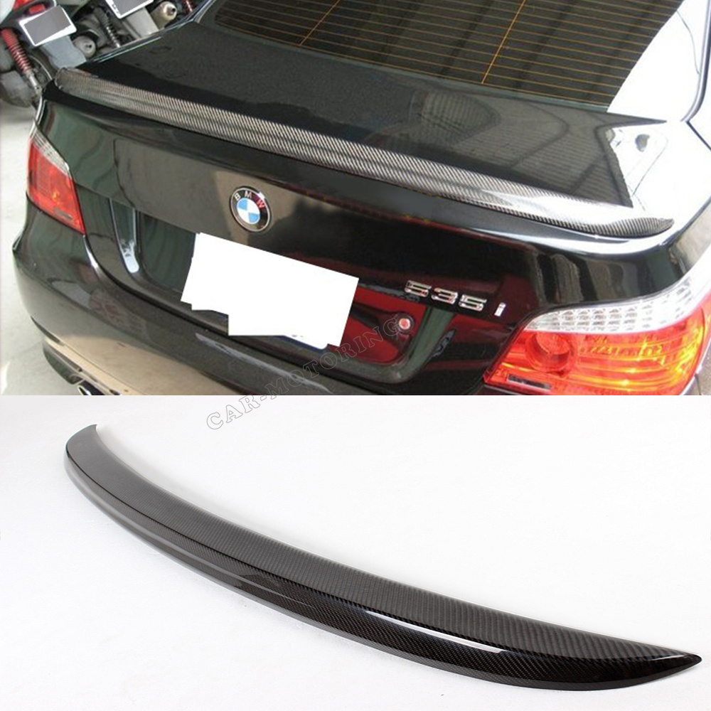 M5 Style Carbon Fiber Trunk Boot Spoiler Wing Fit For BMW E60 5-Series 2004-2007<br><br>Aliexpress