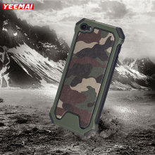 Cases For Apple iPod Touch 5 6 Shockproof Case Military Camouflage Pattern TPU+PC Army Green Anti-knock Armor Frame Back Cover(China)