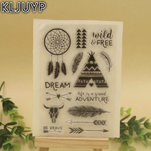 KLJUYP 1 sheet DIY Wind Chimes Design Transparent Clear Rubber Stamp Seal Paper Craft Scrapbooking Decoration(China)