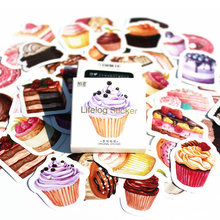 40pc/set Purple Cake Bookmark Diary Stickers Pack Post It Kawaii Planner Scrapbooking Sticky Stationery Escolar School Supplies(China)