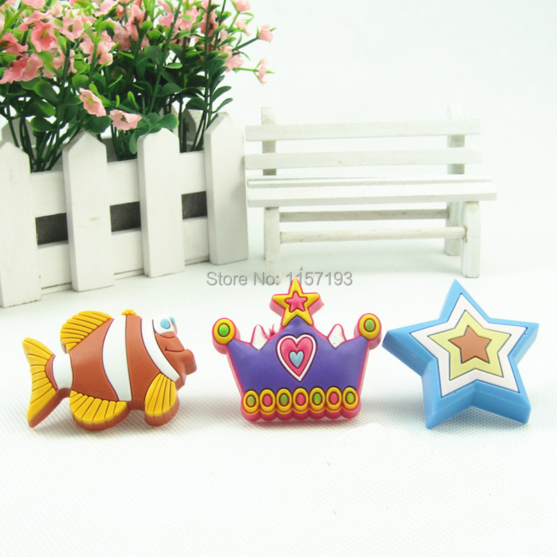 6Pcs/Lot Fish star  crown Kids Room Drawer Cabinet Handle And Knobs Children protection Soft plastic Furniture Handle<br><br>Aliexpress