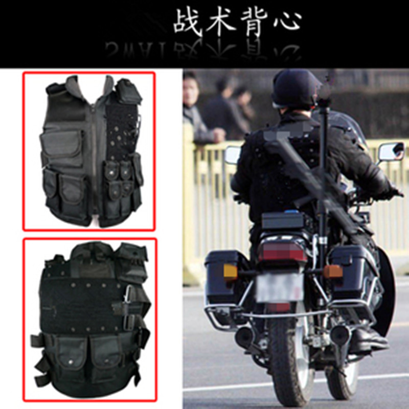 Black vest security guard / security vest real CS game field WG necessary<br><br>Aliexpress