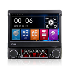 "7"" 1 Din Wince Car DVD Player GPS Navigation Universal In-dash Detachable Front Panel Auto Radio Audio Stereo With Bluetooth map"