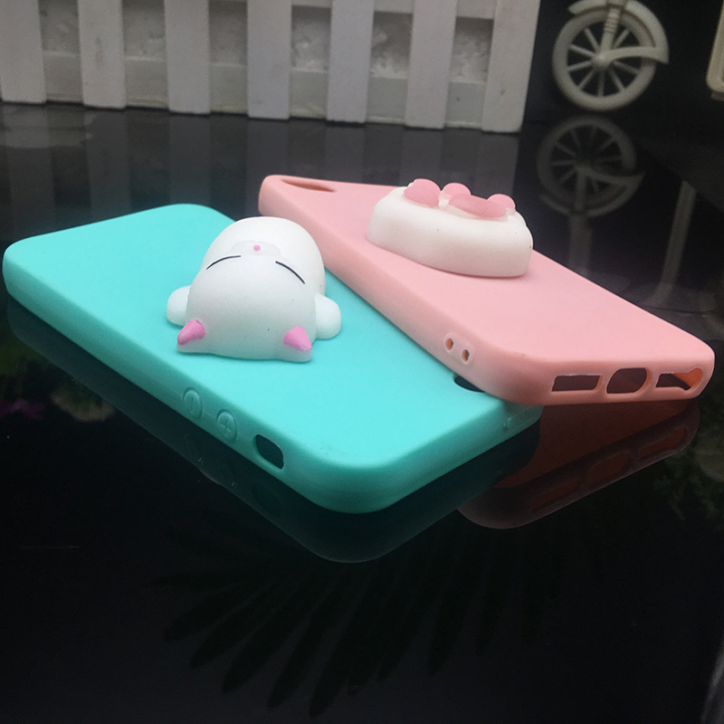 Cute 3d Squishy Cat Silicon TPU Soft Cases For iphone 5 5S SE 6 6s plus Candy Color Back Cover 5 S 7 7plus 8 8plus X phone cases (4)
