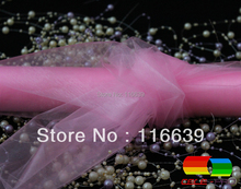 Free Shipping 36cm*10Yard Light Pink Crystal Organza Roll for Display decoration