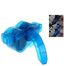Blue Portable Bicycle Chain Cleaner,Bike Clean Machine Brushes Scrubber Wash Tool, Mountain Cycling Cleaning Kit Outdoor Sports(China)