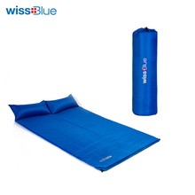 Wissblue Sleeping Mat Mattress Self-Inflating Pad Portable Bed with Pillow Camping Tent Mats Double Person Foldable(China)