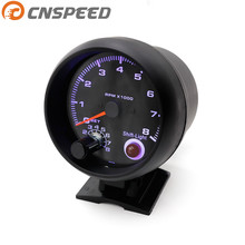 "Free shipping Tachometer 3 3/4"" Black color 0-8000 rpm gauge with inter shift light/Auto gauge/Tachometer/Car meter/Racing meter(China)"