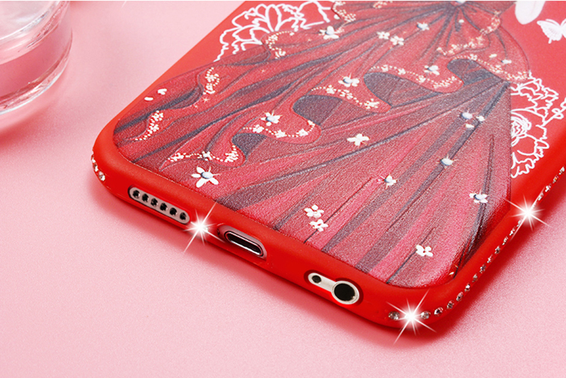 dress girl silicone case iphone 6 s 7 8 plus (16)