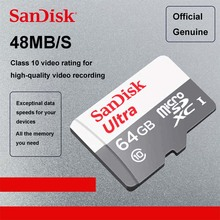 Sandisk Micro SD 16GB 32GB 64GB Uitra MicroSD Cards 8GB Memory Card SDHC SDXC Max 48M/s C10 TF Trans Flash Mikro Card(China)