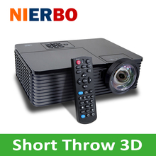 Short Throw Projector Full HD IMAX Shutter 3D High Brightness 6000 Lumens 240W bulb HDMI USB Home Theater Beamer