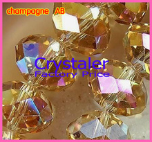 Free Shipping! 5040 AAA Top Quality champagne AB loose Crystal Rondelle beads.2mm 3mm 4mm 6mm 8mm 10mm12mm