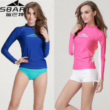 SBART Rashguard Women Swim Shirts Womens Rash Guard Swimwear Lycra Surf Rushguard Top Long Sleeve Swimsuit Free UPF 50 UV