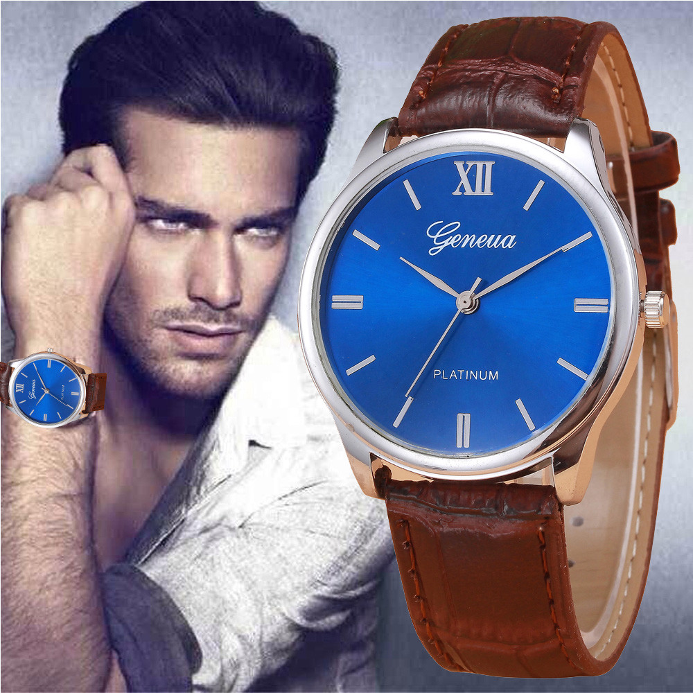 New Arrive Luxury Woman Mens watch Retro Design PU Leather Band Analog Alloy Quartz Wrist Watch Relogio Masculino 2016 hot<br><br>Aliexpress