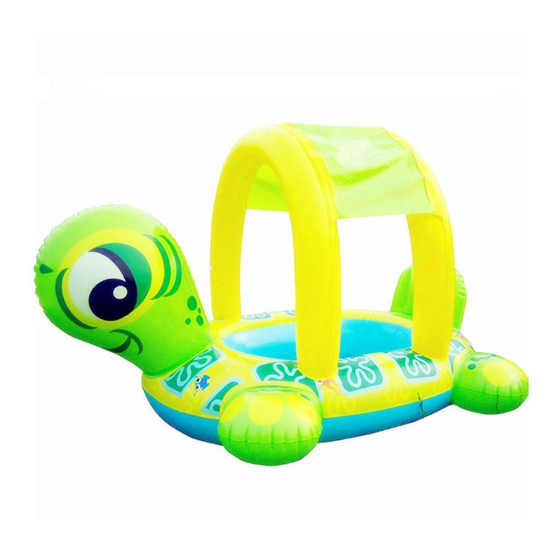 Roksy Inc Baby Swimming Float Tortoise Inflatable Swim Floats Boat Ride-On Ring for Baby Infant Toddlers Kids Age 8 Months 6 Years Comfortable Lounger Pool Toys for Summer Water Party