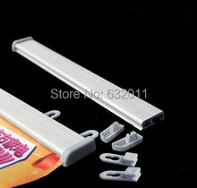30cm aluminium promotion painting scroll poster snap frame store banner holder strip rails