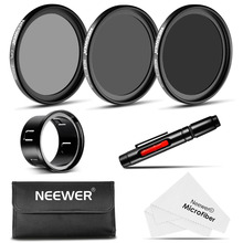 Neewer for DJI Phantom 3 Standard 37MM Filter Kit: CPL+ND4+ND8 Filters+Adapter+Lens Cleaning Pen+Cleaning Cloth+Carrying Pouch(China)