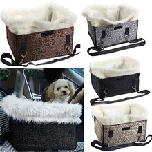 Soft Plush Pet Booster Seat Car Dog Carrier Puppy Cat Hammock Bag for Small Medium Dog Pet Travel Products