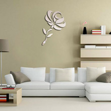 funlife DIY Rose Wall Stickers Living Room Bed Room Wall Art Poster PVC 3D Wall Sticker Home Decoration Accessories(China)