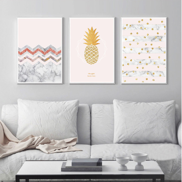 Abstract-Yellow-Gold-Pineapple-Dots-Canvas-Paintings-Nordic-Posters-Prints-Wall-Art-Pictures-For-Kids-Room.jpg_640x640