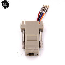High Quality DB9 Female to RJ45 Female DB9 to RJ45 Adapter Connector rs232 modular cab-9as-fdte to rj45 db9 for Computer AQJG(China)