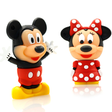USB Flash Drive 64G Pen Drive 32G Pendrive 16G 8G 4G New Style Cute Cartoon Mickey Hot Sale Pendrive Usb2.0 U Disk Free Shipping