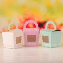 More Colors Paper Single Cupcake Cake Case Wedding Party Favor Muffin Pod Dome Holder Boxes with Handle and PVC Window 12pcs