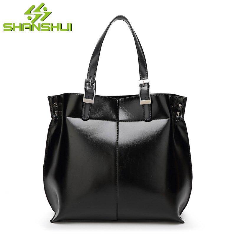2017 Women PU Oil Wax Messenger Bag Big Shoulder Bag Handbag Solid Clutch Bags Woman Big Capacity Zipper Crossbody Bag Bolsas<br>