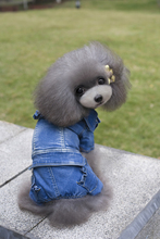 New Cute Four Legs  Denim Pet Dogs Coat  For Girl Free Shipping By China Post Dogs winter coat