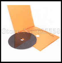 1PCSX HIFI Carbon Fiber CD DVD Stabilizer Mat Top Tray Player Turntable HI END Amp cone speaker pad