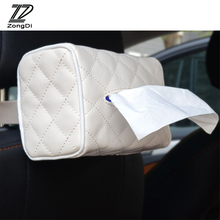 ZD 1Pc Car Hanging Tissue Paper Box for Alfa Romeo Chevrolet Aveo Captiva Ford Focus 3 Fiesta Mondeo Kuga Fusion Accessories(China)