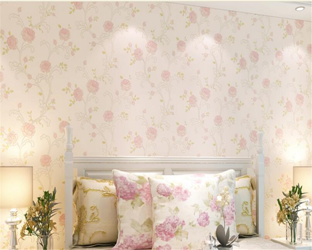 beibehang 3D tapety pastoral environment non - woven fabric wallpaper warm bedroom living room TV wall wallpaper papel de parede<br>