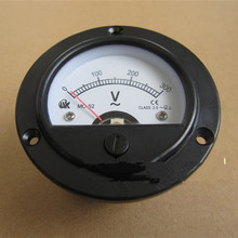 round head  voltmeter for Gasoline generator parts,2 kw-5 kw 168F/188F 0-300V  General single-phase round head panel voltmeter