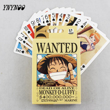 YNYNOO 54 pcs/pack Anime One Piece Joe & Luffy Collection Poker Cards Playing Cards Cosplay Board Game Cards With Box OT051