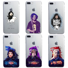 Cool Art Game Of Thrones jon snow Phone Case For iPhone 6 6S 6Plus 5 5s SE 7 7Plus Transparent Clear hard Cover Fundas Case