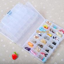 24-Slot Dismountable Medicine Pill Case Transparent Storage Box Household use