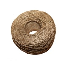 NEW natural jute rope 1mm Soft 100M Natural Textured Hessian Jute Twine Gift box String Rope Floral Craft Wedding Tags Wrap Deco(China)