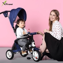 New Brand Child tricycle High quality swivel seat child Folding Trolley bicycle baby stroller BMX Baby Car Bike(China)