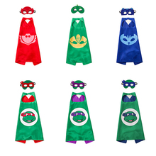 Cartoon Mask Teenage Mutant Ninja Turtles Cape Batman Cloak Festival Cosplay Party Supplies Kids Birthday Children's Day Gift(China)