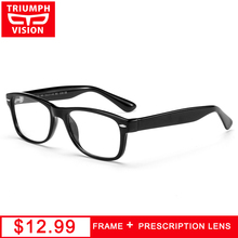 TRIUMPH VISION Brand Designer Prescription Eyeglasses Square Clear Glasses Men Women Diopter Lens Myopia Spectacles Oculos Gafas(China)